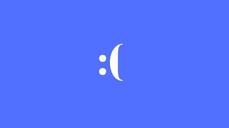 Синий экран в октябрьском обновлении